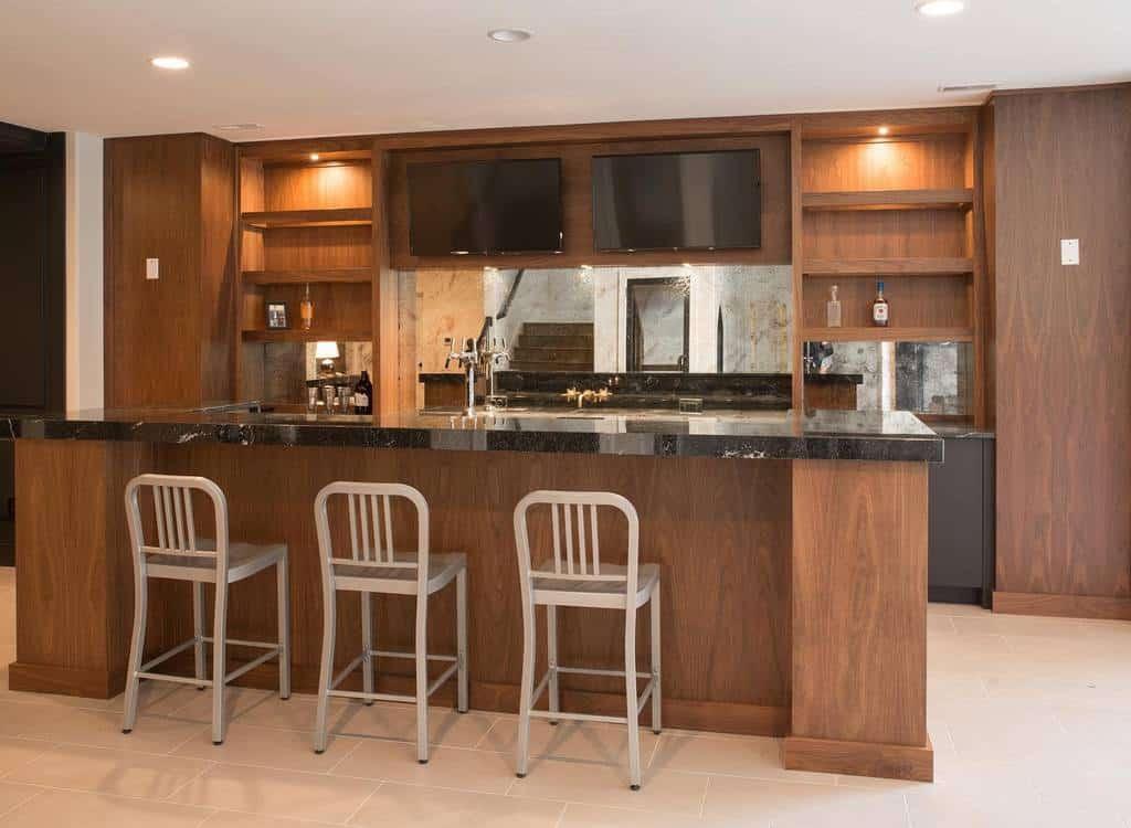 Wood Basement Bar Ideas indianakitchencompany
