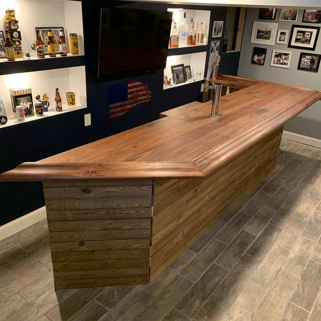 Wood Basement Bar Ideas urban_industrial_design