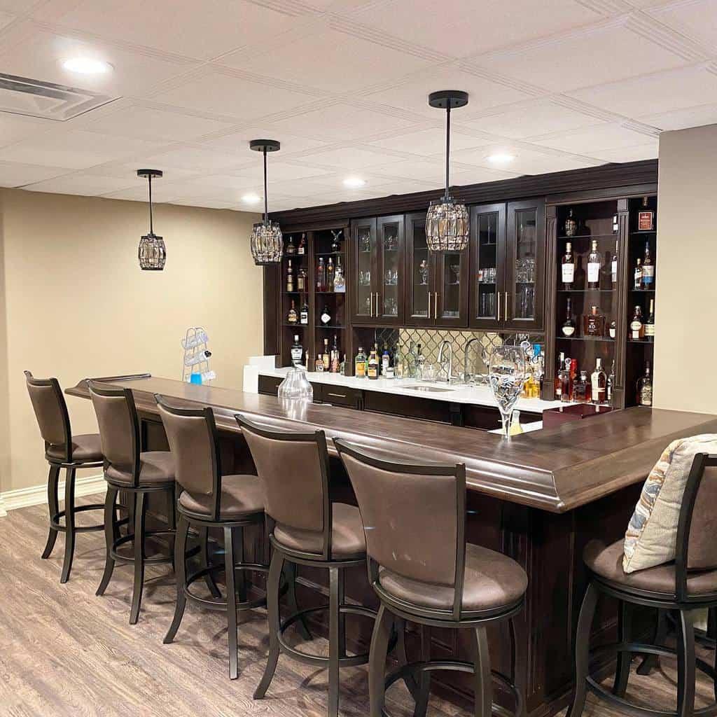 Wood Basement Bar Ideas woodwerksinc