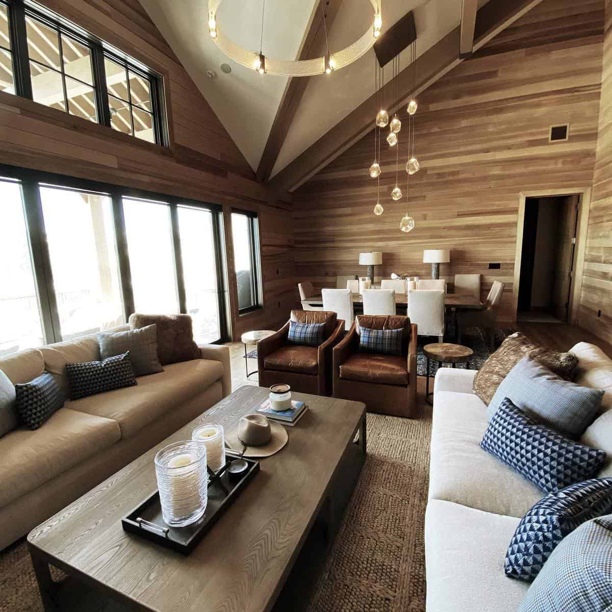 Wood Brown Living Room Ideas -designcollectivewest