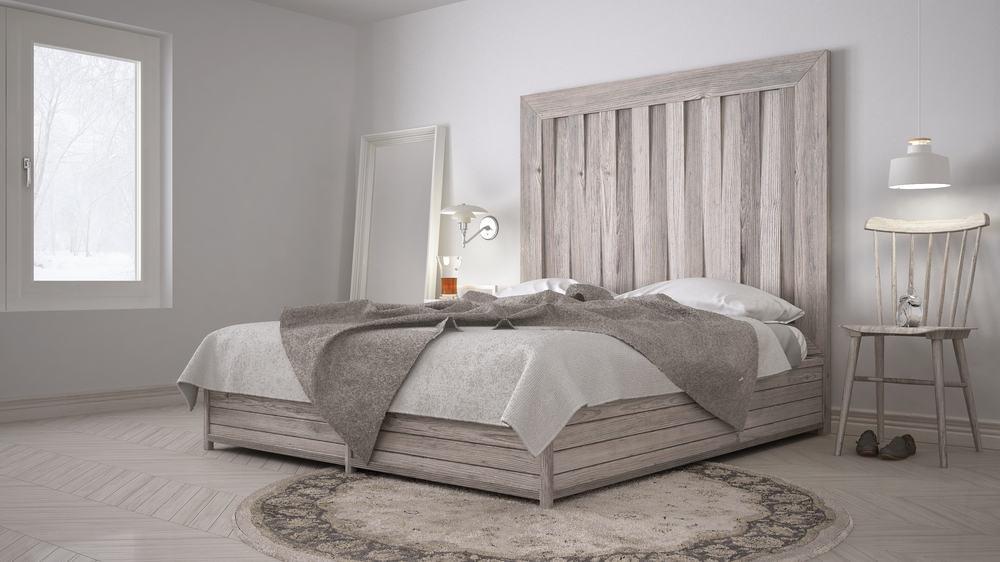 Diy,Bedroom,,Bed,With,Wooden,Headboard,,Scandinavian,White,Eco,Chic