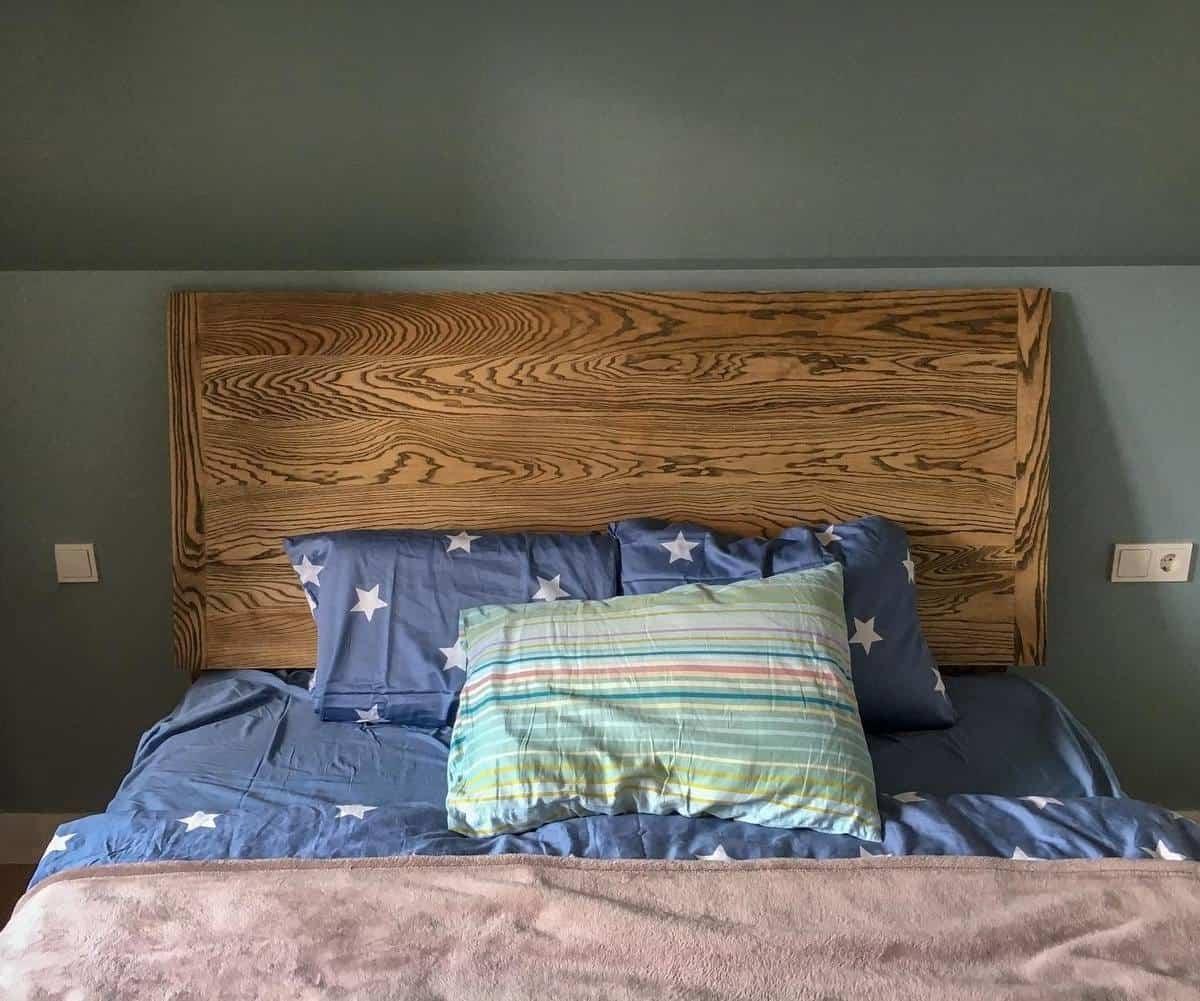 Wood DIY Headboard Ideas -snugnook