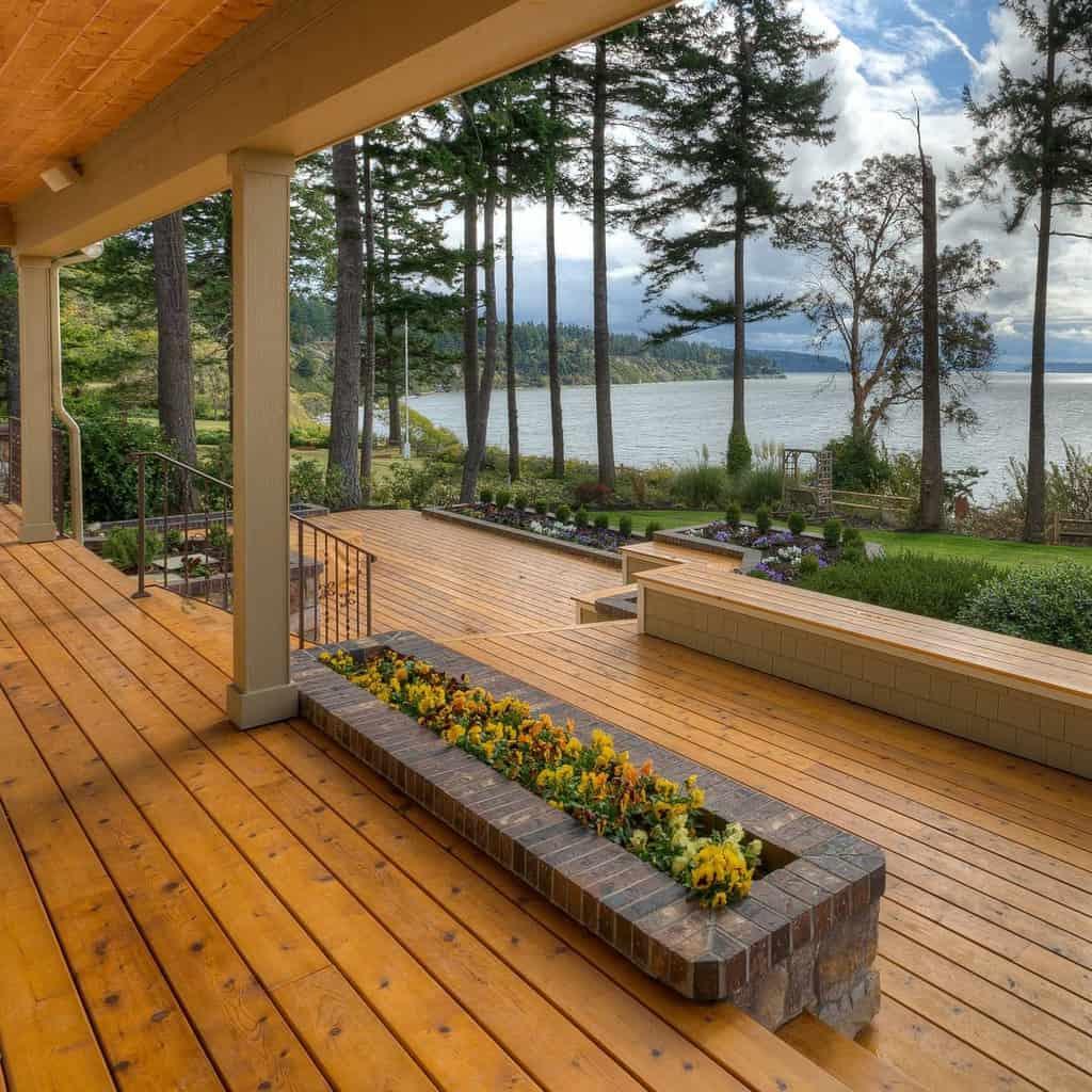Wood Deck Decorating Ideas -cedarcountrylumber