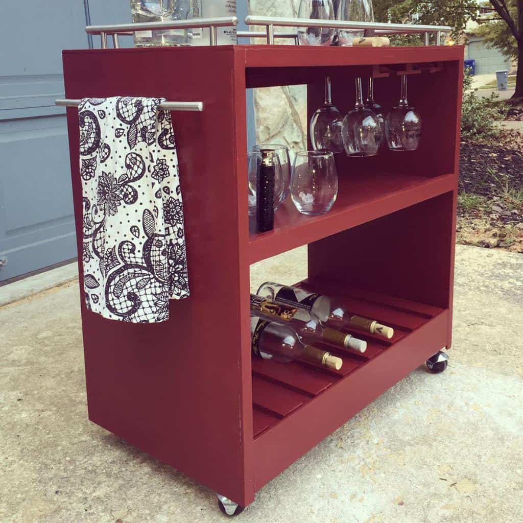 Wooden Bar Cart Ideas -the_refurbisher