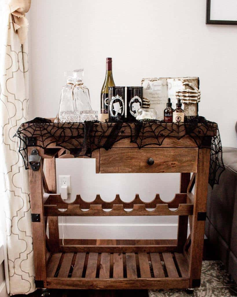 Wooden Bar Cart Ideas -thefrenchesdiaries