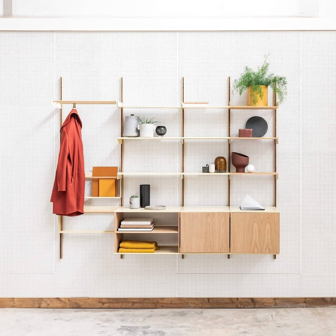 Wooden Shelving Ideas atelier_belge