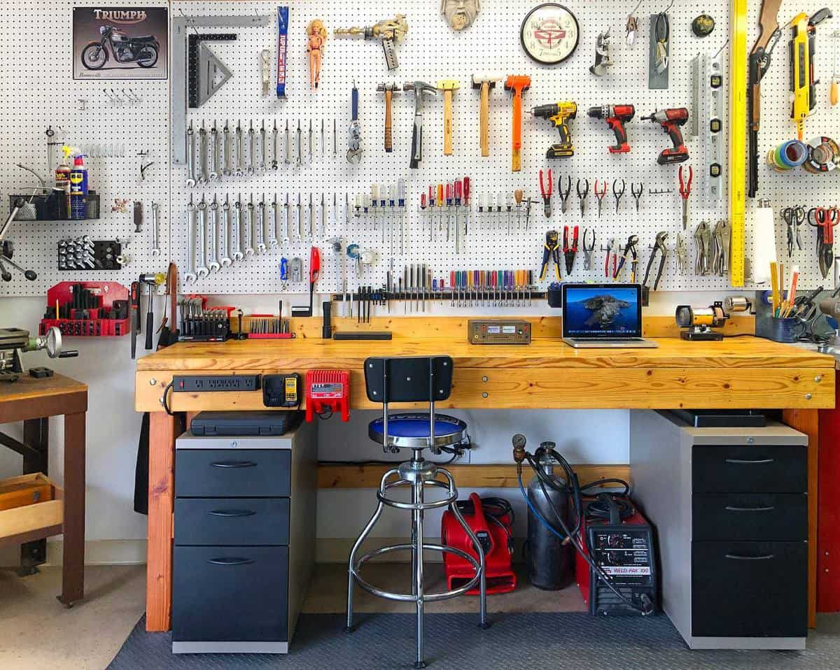 Workbench Tool Storage Ideas -garyloganphoto
