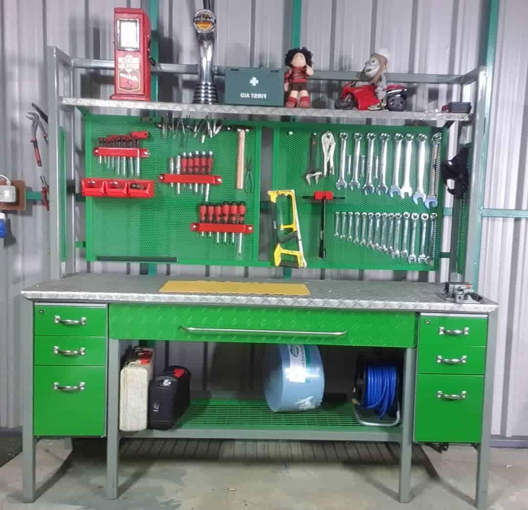Workbench Tool Storage Ideas -hughes_metalwork