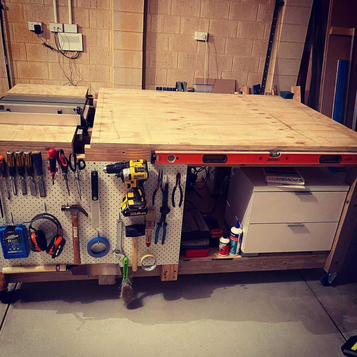 Workbench Tool Storage Ideas -mrwoody888