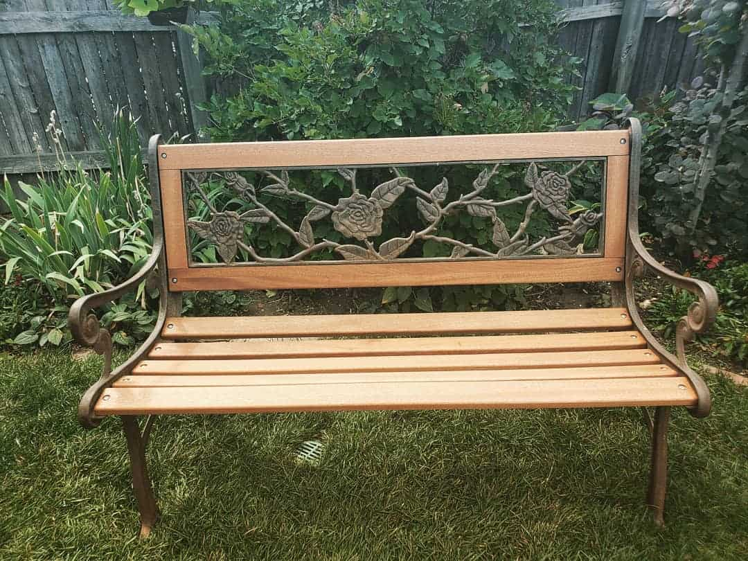 Wrought Iron Garden Bench Ideas -back.alley.woodworks