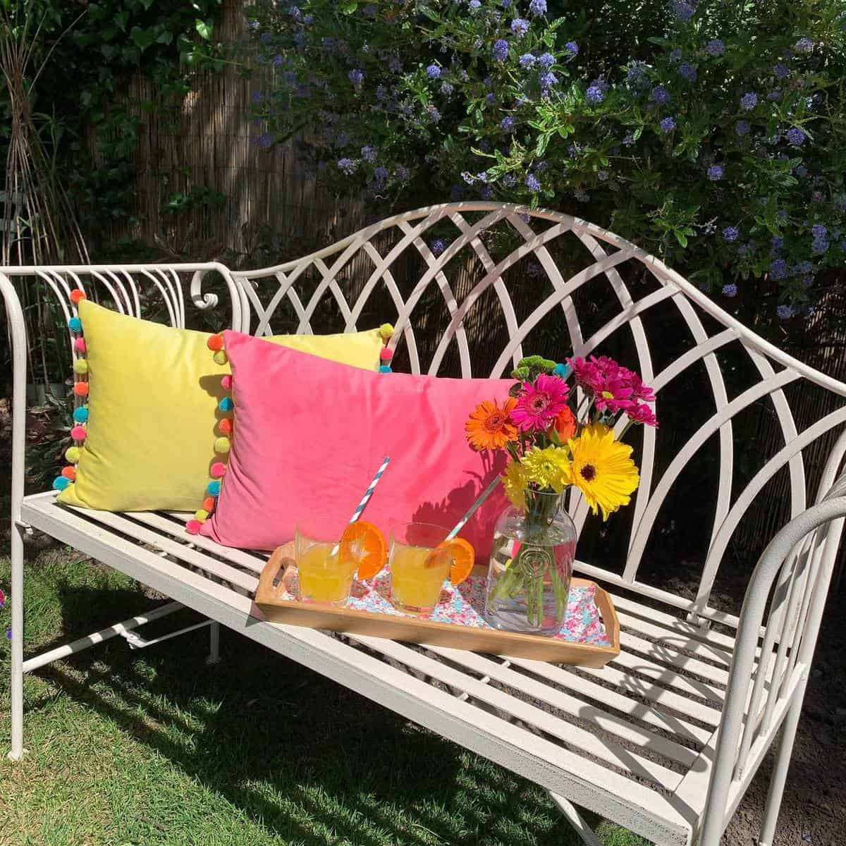 Wrought Iron Garden Bench Ideas -selfraising_flowers