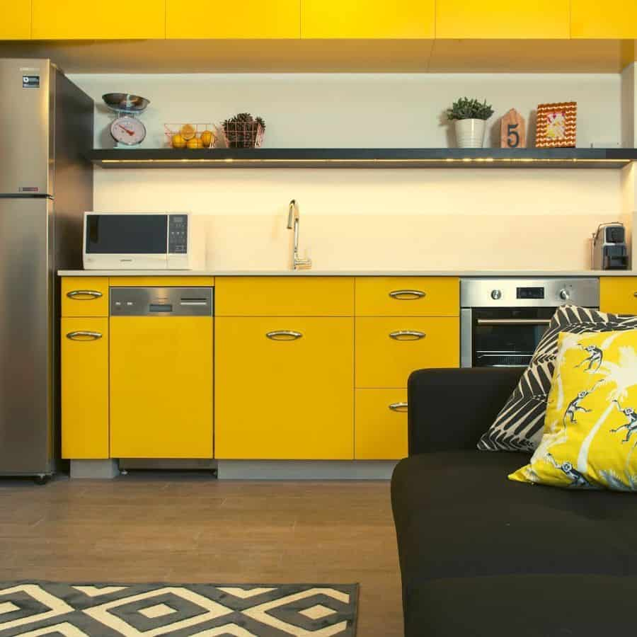 Yellow Kitchen Cabinet Color Ideas tlv2go_apartments