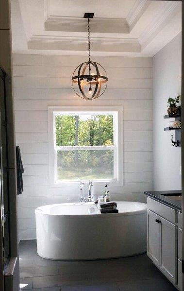 Above Bathtub Bathroom Trey Ceiling Ideas
