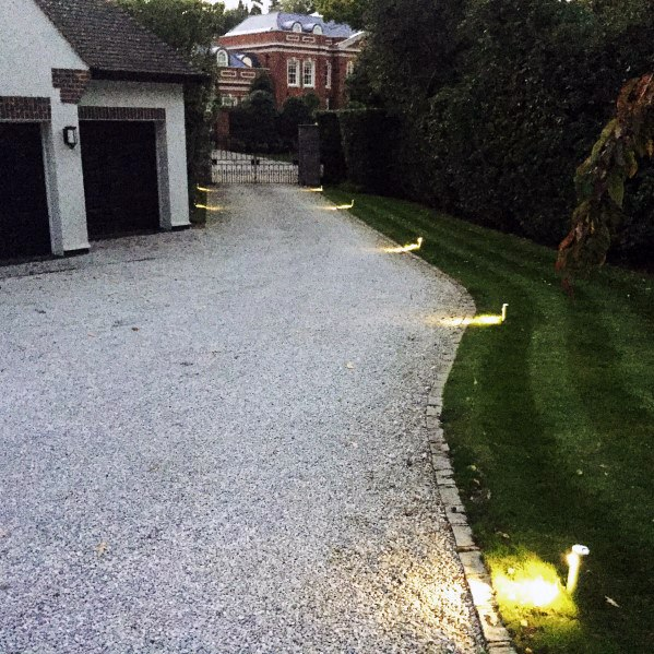 Above Ground Driveway Lighting Landscape Exterior Ideas