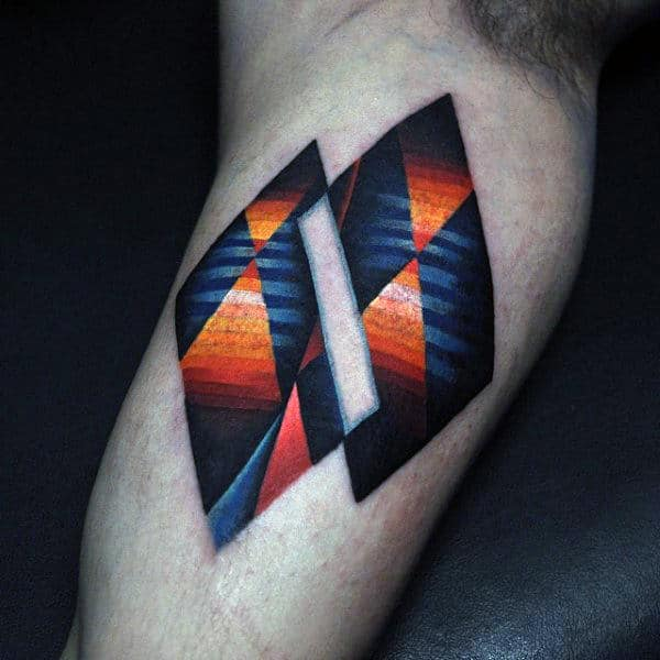 Abstract Amazing Mens Bicep Tattoo Design Ideas