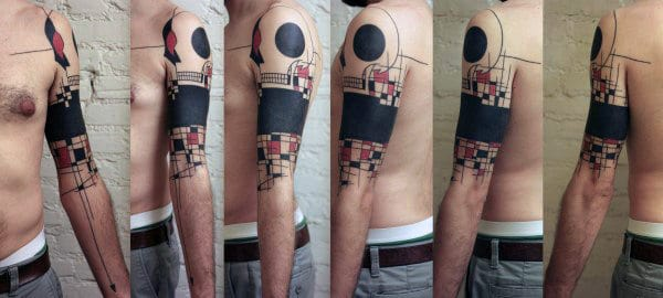 Abstract Black Band Creative Guys Tattoo Ideas