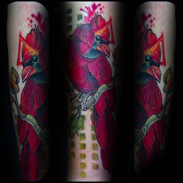 Abstract Cardinal Creative Mens Forearm Tattoos