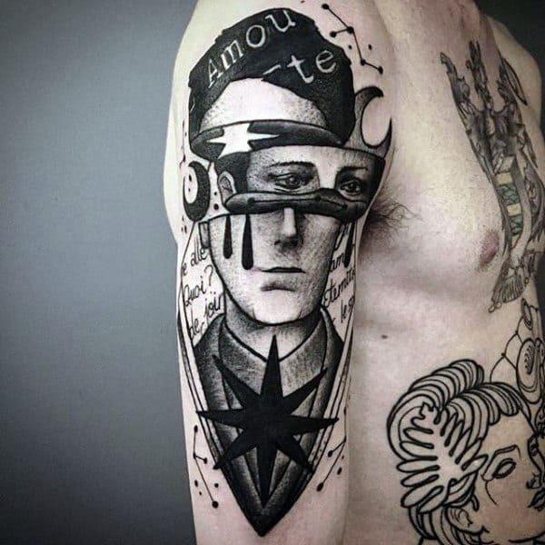 Abstract Constillation Mens Arm Tattoo Design