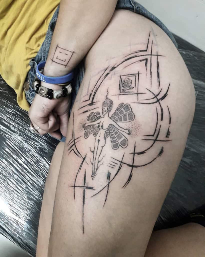 Abstract Fairy Art Tattoo