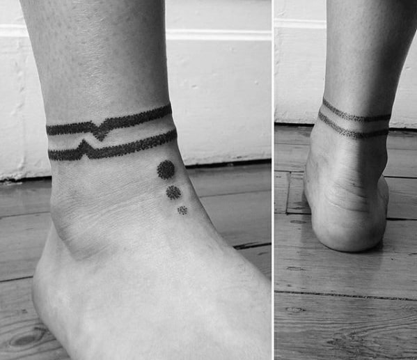 60 ankle band tattoos for men lower leg design ideas for Thigh band tattoos for females