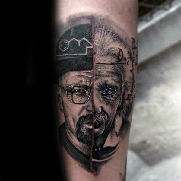 Abstract Guys Breaking Bad Forearm Tattoo Designs