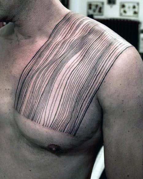Tattoo Designs Lines: Top 80 Best Abstract Tattoos For Men