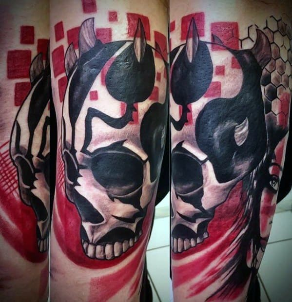 Abstract Mens Darth Maul Tattoo Design Inspiration