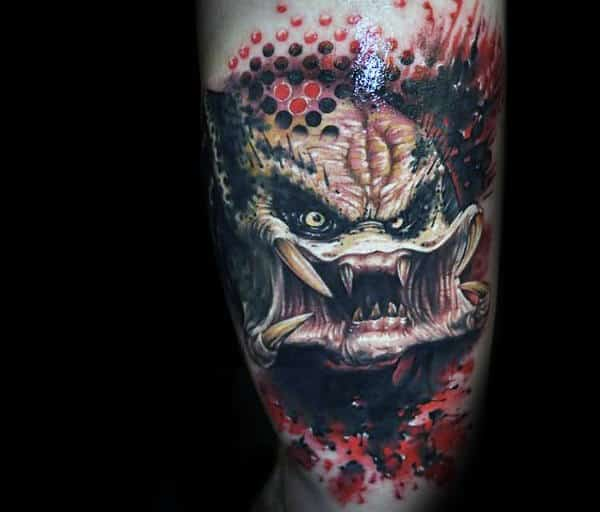 Abstract Predator Arm Tattoo Design Ideas For Males