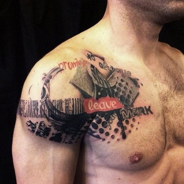 Abstract Shoulder Tattoos