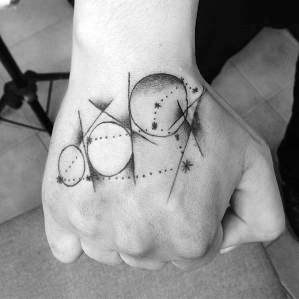 Abstract Simple Hand Tattoo Design Ideas For Males