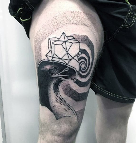 Abstract Tattoo On Males Tight Tattoo