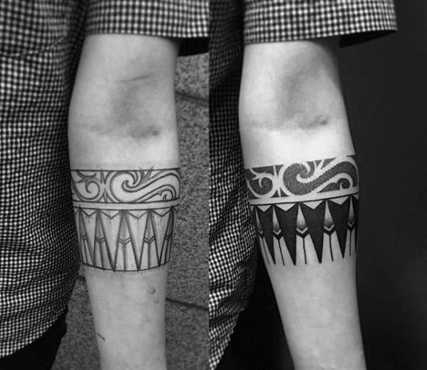Abstract Tribal Male Armband Tattoo