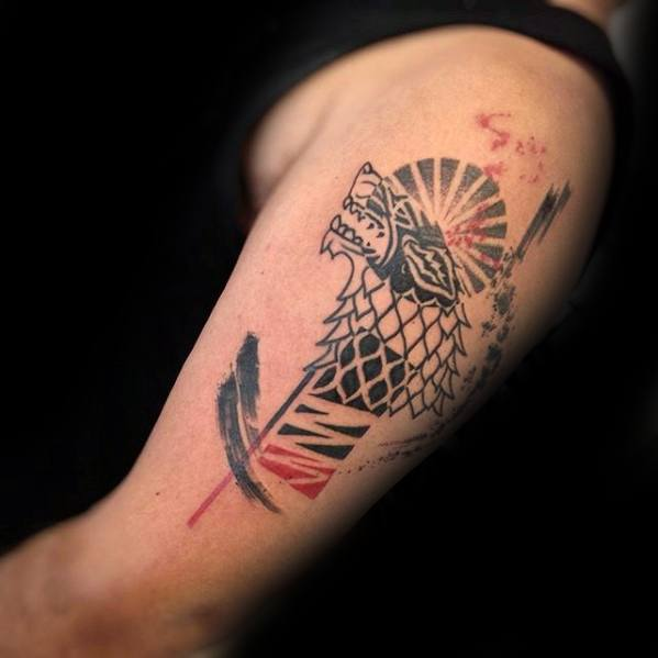 Abstract Upper Arm Game Of Thrones Tattoos Guys
