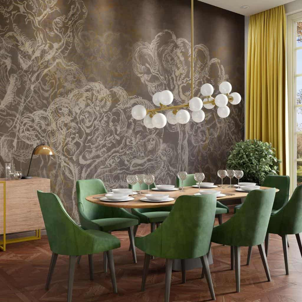 accent dining room wall decor ideas accentwall.eu