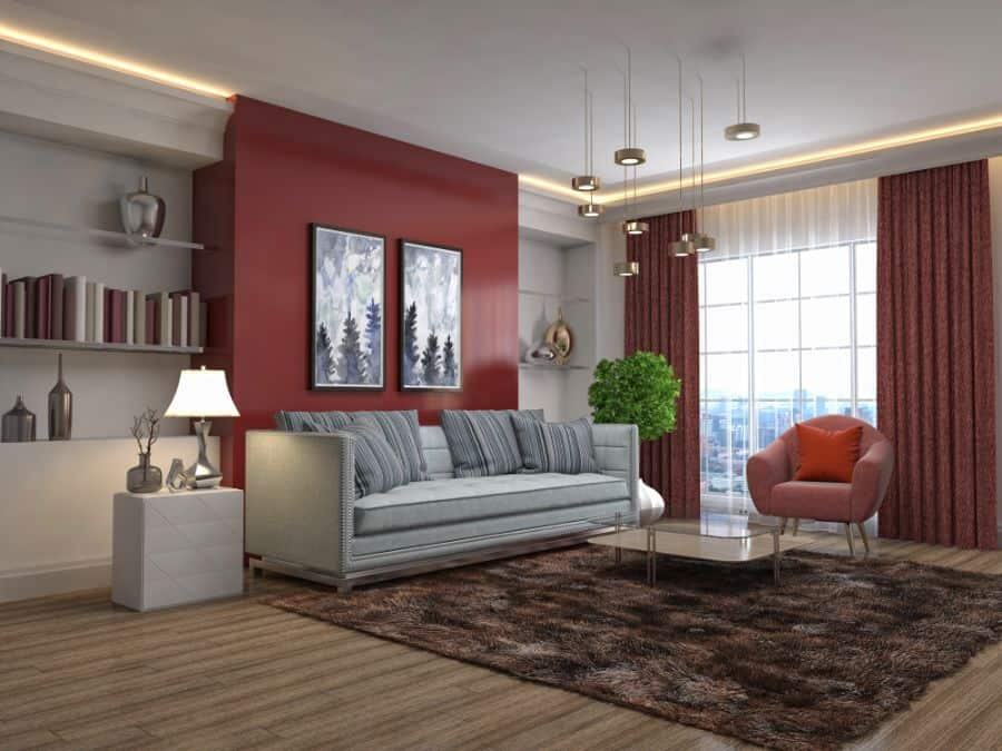 Accent Wall Living Room Paint Ideas 3