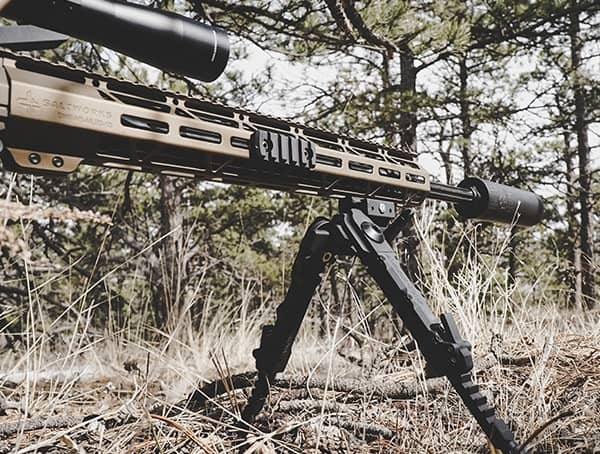 Accu Tac Bipod Reviews Prone Position On Ground With Rifle