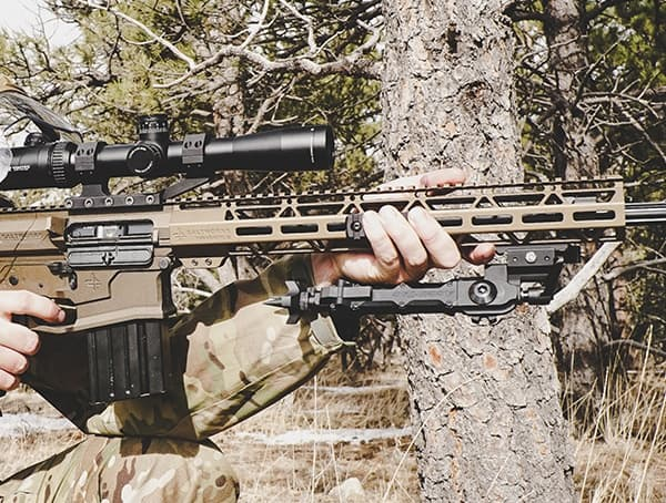 Accu Tac Bipods Folded Review Outdoor Firearms Field Test Standing Position