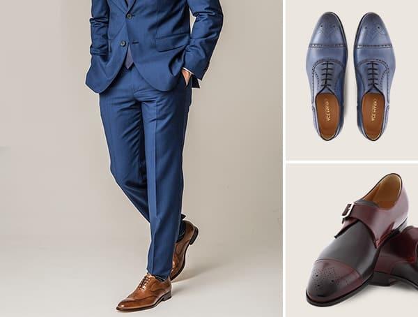 Ace Marks Italian Leather Dress Shoes