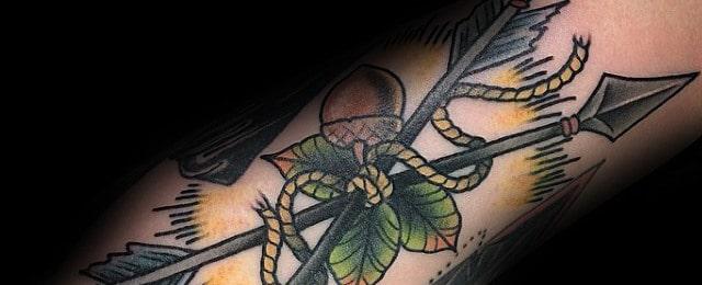 Acorn Tattoo Designs For Men