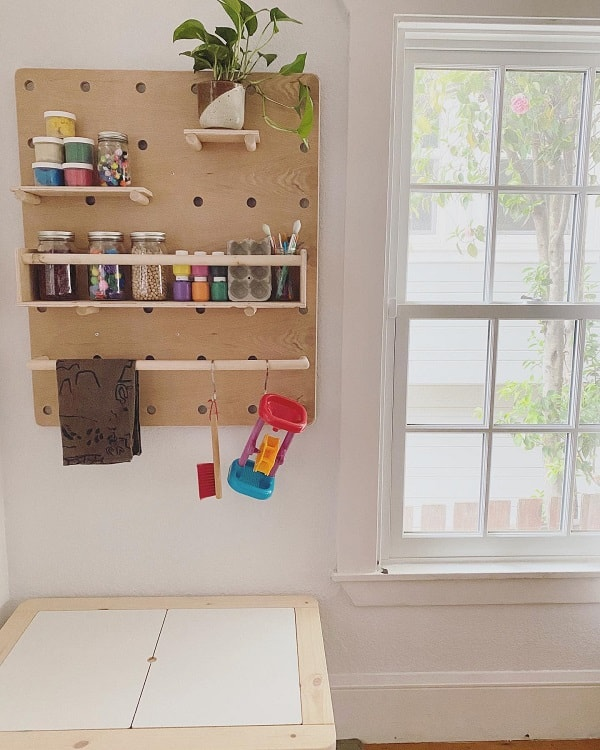 Activity Table Art Room Pegboard Ideas Lifewithwynterandnova