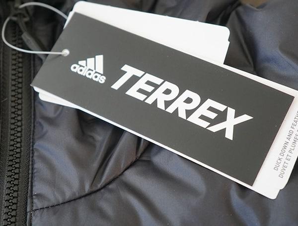 Adidas Lite Down Hoodie Terrex Tag