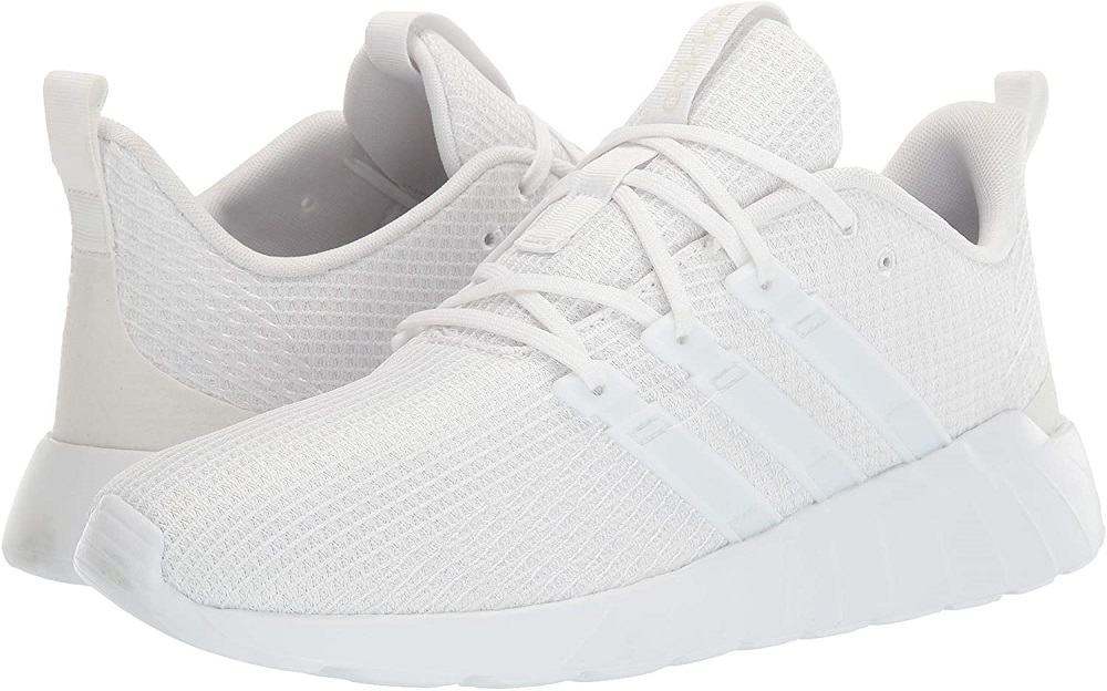 adidas mens questar flow sneaker running shoe in white color