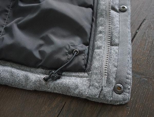 Adjustable Hem Nau Utility Wool Down Winter Fall Mens Jackets