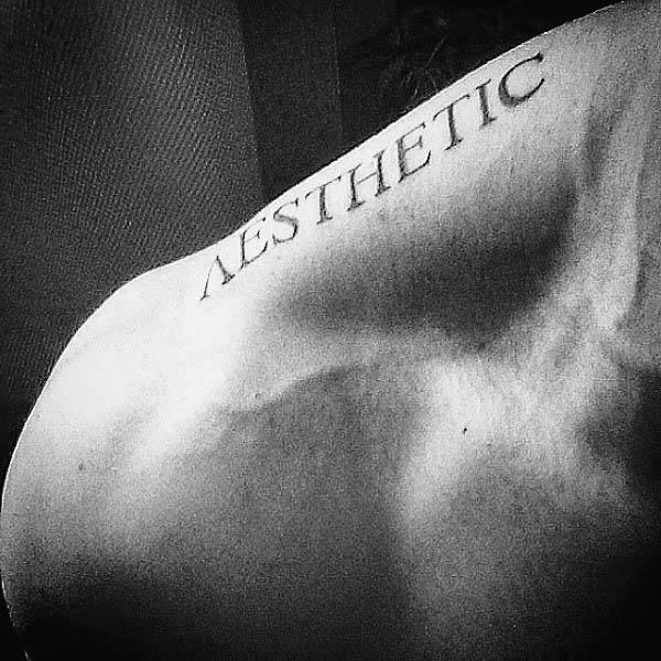 Aesthetic Mens Shoulder Fitness Tattoo Ideas