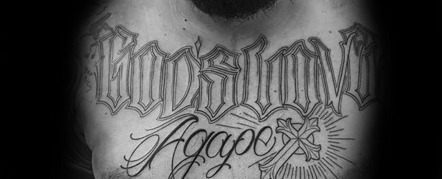 Agape Tattoo Designs For Men