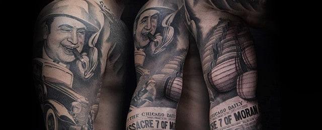 Al Capone Tattoos For Men