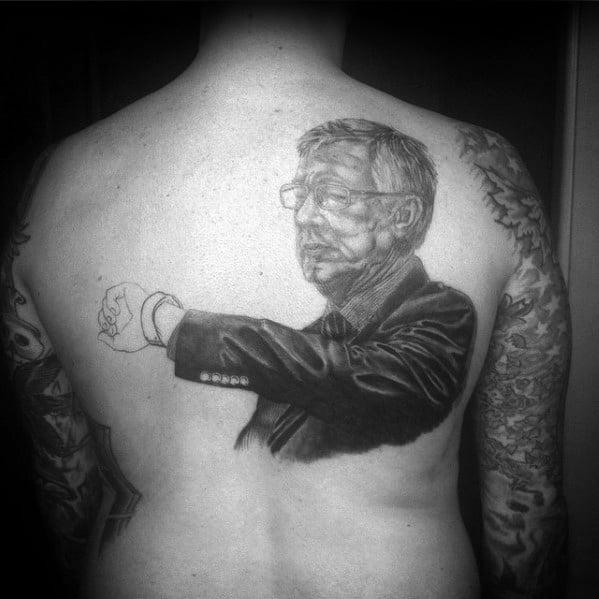 Alex Ferguson Male Manchester United Tattoo Ideas