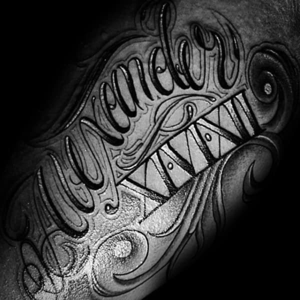 Alexander Xivixii Memorial Roman Numeral Mens Arm Tattoo