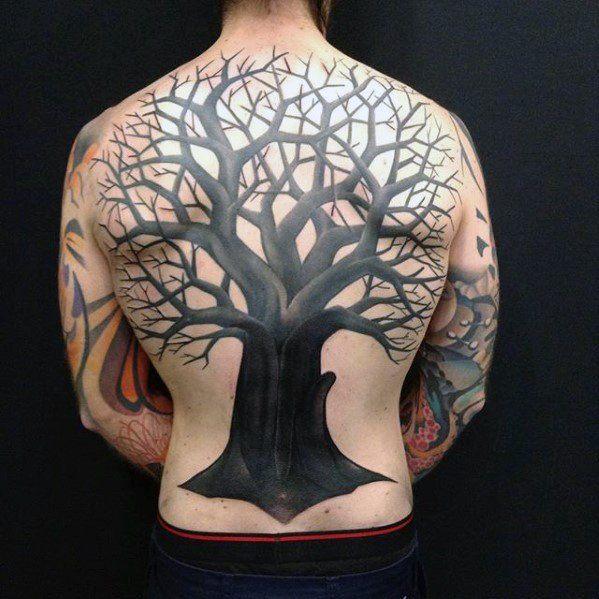 Ink Tattoo Designs: 70 All Black Tattoos For Men