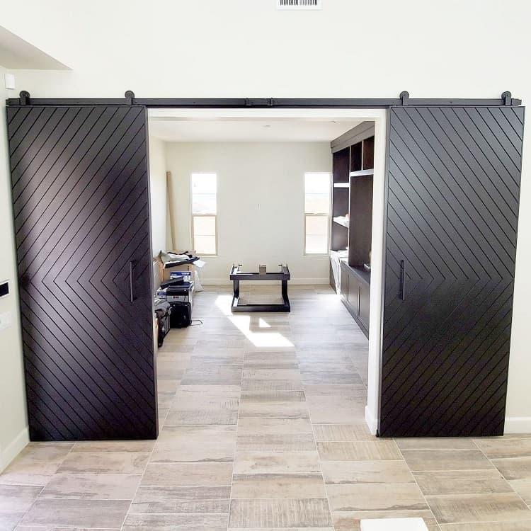 All Black Modern Barn Door